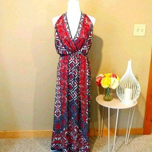 Angie Backless Maxi Dress Size Small